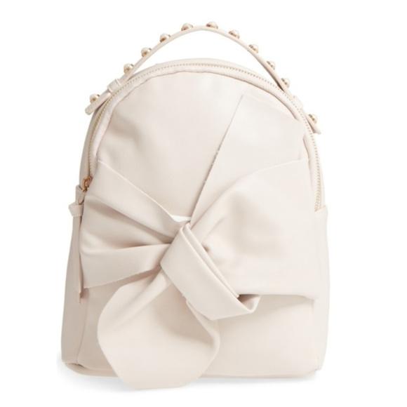 65cf25f3cc34 NWT Pearl Handle Bow Mini Backpack Bag